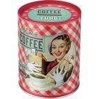 "Kutija za novac - Say it 50's style motif and ""have a coffee"""