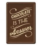 Razglednica - Chocolate is the answer