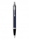 ballpoint pen matte blue with medium point blue ink refill
