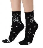 Ženske čarape kratke, Crna - Psihički upadljiva, 35-37