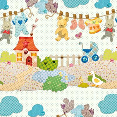 Ukrasni papir - Baby Farm
