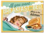 Nostalgic art magnet - Breakfast in bed
