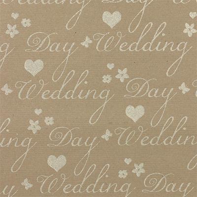 Ukrasni papir R With Love Wedding Day