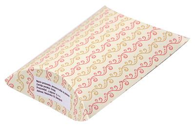 Ukrasna kutija za poklon - Oker i roze linije