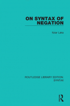 On Syntax Of Negation