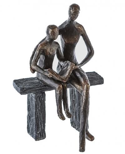Skulptura - Teaching, Mother/Child, bronze