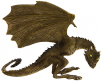 game of thrones figura - rhaegal baby dragon