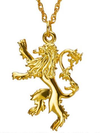 Game of Thrones privezak na lancu - Lannister's Pendant