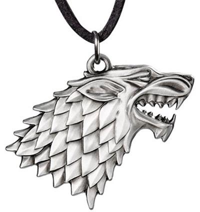 Game of Thrones Privezak na ogrlici - Stark pendant costume