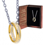 LOTR Prsten na lancu - One ring Sterling silver