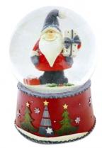 Muzička vodena kugla - Santa with gray cap