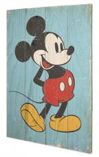 Slika - Mickey Mouse, Retro Small Wood