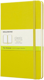 moleskine classic notebook large plain hard cover dandelion yellow
