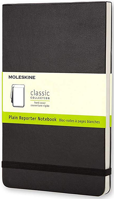 Moleskine Large Reporter Plain Notebook