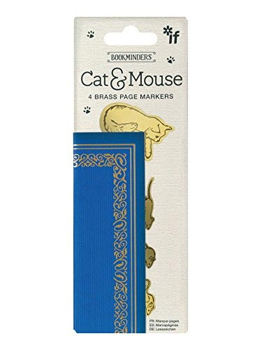 Bukmarker - Bookminders Brass Cat & Mouse