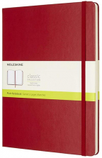 moleskine - hard cover xl plain notebook scarlet red