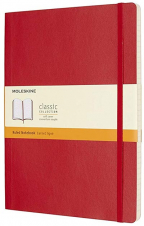 moleskine - soft cover xl ruled notebook scarlet red