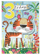 Čestitka - Age 3, Tiger