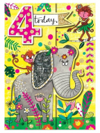 Čestitka - Age 4, Elephant