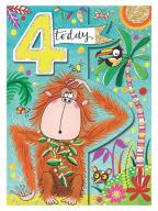 Čestitka - Age 4, Orangutan