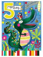 Čestitka - Age 5, Crocodile