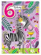 Čestitka - Age 6, Zebra