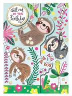 Čestitka - Chill Out, Sloths
