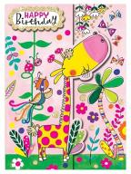 Čestitka - Happy Bday, Giraffe