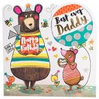 Čestitka - Happy Bday, Daddy Bears