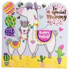 Čestitka - Happy Bday, Mummy Llamas