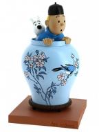 Figura - Tintin and Snowy, Chinese Vase