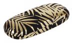 Futrola za naočare - Gold Foil Palm Leaves, Black Velvet