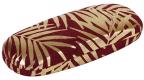 Futrola za naočare - Gold Foil Palm Leaves, Burgundy Velvet