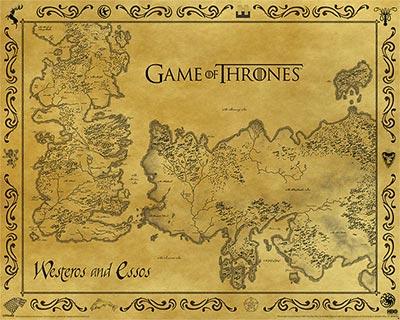 Poster - GOT, Antique Map