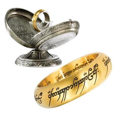 Prsten, LOTR - One Ring, Gold