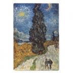 Magnet - Van Gogh, Road with Cypress and Star