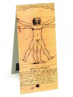 Magnetni bukmarker - Da Vinci, Vitruvian Man