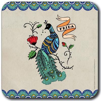 Podmetač - Frida Kahlo, Peacock grey