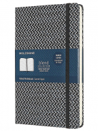moleskine classic blend ruled paper notebook - hard cover and elastic closurejournal black large