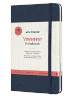 moleskine voyageur notebook travel notebook fabric hard cover with elastic closure ocean blue colour