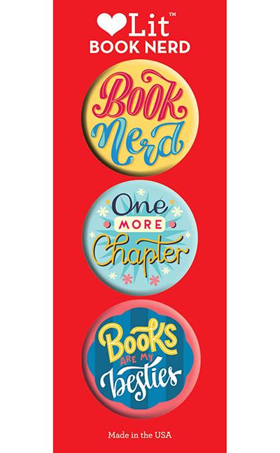 Book Nerd 3-Button Assortment