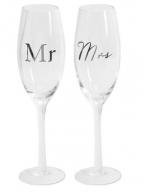 Set čaša za šampanjac - Mr & Mrs