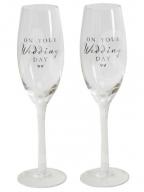 Set čaša za šampanjac - Wedding Day