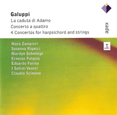 GALUPPI: LA CADUTA DI ADAMO; CONCERTO A QUATTRO; 4 CONCERTOS FOR HARPSICHORD AND STRINGS