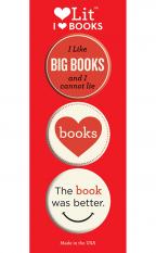 I Heart Books 3-Button Assortment