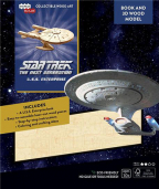 incredibuilds star trek the next generation uss enterprise book and 3d wood model