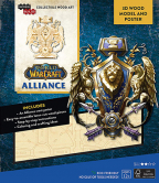 Incredibuilds: World Of Warcraft: Alliance 3D Wood Model And Poster