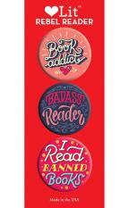 Rebel Reader 3-Button Assortment