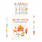 Drvene bojice set/10 - Big Top Circus