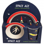 Set za jelo, bamboo - Space Age